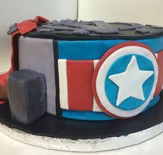 Avengers cake Captain america