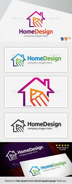 Home Design Logo Template Vector Logotype Download It Here