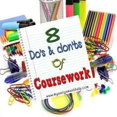 Students can get a helping hand on coursework by going through some Do's and Don'ts which they can follow and got very Good marks in academic Career
