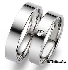 His & Hers Mens Womens Matching 10K White Gold Wedding Bands Rings Set with Diamond 5mm/5mm Wide Sizes 4-12 Free Engraving New