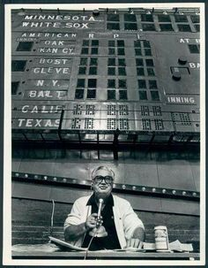 Harry Caray's last broadcast from the bleachers.