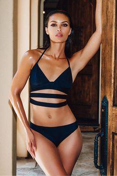 AIKIDO Katsu Top Bikini Top   Black 
