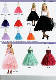 Fun Dresses with Sparkle for little girls. Great for Weddings and Parties.