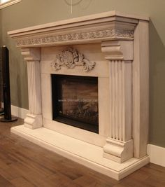 Newest Pictures antique Fireplace Mantels Concepts – Rebel Without Applause Farmhouse Fireplace Mantels, Fireplace Mantel Surrounds, Shiplap Fireplace, Limestone Fireplace, Fireplace Design, Victorian Fireplace Mantels, Mantles, Fireplaces, Fireplace Pictures