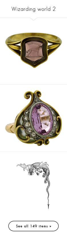 """""""Wizarding world 2"""" by darcyrossetti24 ❤ liked on Polyvore featuring jewelry, rings, red jewelry, engraved jewellery, red jewellery, red ring, petite jewelry, gold diamond rings, oval diamond ring and diamond jewellery"""