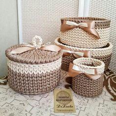 Crochet And Knitting Patterns - Latest ideas information Crochet Case, Crochet Bowl, Crochet Storage, Crochet Basket Pattern, Knit Basket, Crochet Purses, Knit Or Crochet, Crochet Gifts, Crochet Doilies