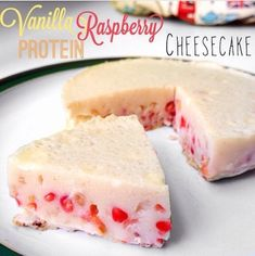 Ripped Recipes - Vanilla Raspberry Protein Cheesecake - Healthy Cheesecake...need I say more.