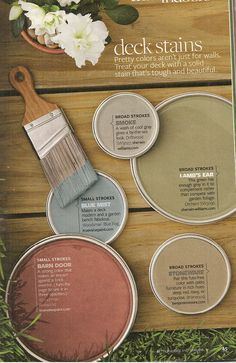 BHG deck stain colors. check out that green!