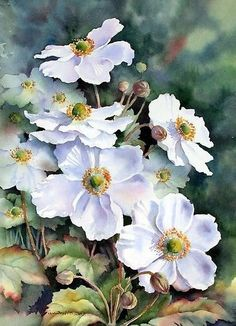 Watercolor Journal, Watercolour Painting, Watercolor Flowers, Watercolors, Floral Drawing, Pictures To Paint, Watercolor Landscape, Beautiful Paintings, Oeuvre D'art