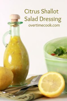 Citrus Shallot Salad Dressing.. I made this for our wedding. It is delicious! Good with leftover smoked salmon on fresh mixed greens too!