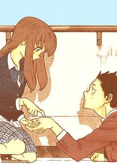 koe no katachi, a silent voice, shouko nishimiya, shouya ishida All Anime, Manga Anime, Anime Art, A Silent Voice Anime, Voices Movie, Ghibli, Koi, Otaku, Hotarubi No Mori