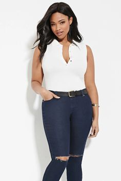 Plus Size Buttoned Polo | Forever 21 PLUS #forever21plus