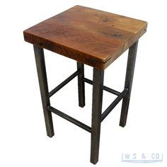 SALE FREE SHIPPING: Counter Stool  25  Reclaimed Wood.  by WSCo