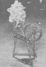 History of the Spinning Wheel: Distaff Spinning Wheel