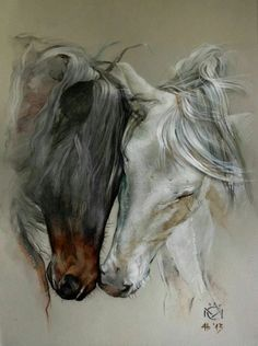 Discover thousands of images about Daniela Nikolova-Sidiropoulou Horse art Indio XLII & Entendido XXXIV - Caballos Mayoral Horse Drawings, Animal Drawings, Art Drawings, Abstract Drawings, Abstract Art, Painted Horses, Pretty Horses, Beautiful Horses, Arte Equina