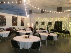 Winery interior party setting