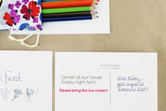 Printable dinner party invitations (potluck style!)