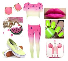 """""""WATERMELON !!!"""" by jdrummo on Polyvore featuring Vans, PhunkeeTree and Trina Turk LA"""