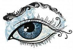 Enchanting eye machine embroidery design. Machine embroidery design. www.embroideres.com