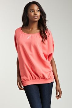 Colorfast Space Dye Reversible Dolman Pullover by Blazers, Tops & More Up to 75% Off on @HauteLook