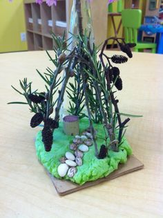 Gorgeous playdough nature sculpture from Storyoga Pre-school