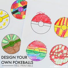 Free Printable Pokeballs Coloring Sheet for Kids Free printable Pokemon coloring pages that allow kids to design their own pokeballs from And Next Comes L. Pokemon Craft, O Pokemon, Pokemon Party, Pokemon Tattoo, Pokemon Funny, Pokemon Fusion, Free Printable Coloring Sheets, Coloring Sheets For Kids, Coloring Pages
