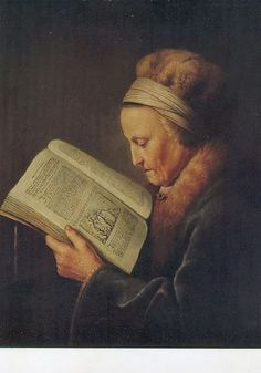 Rembrandt's mother reading 2
