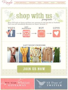 Shop Ruche's cool email marketing campaign.