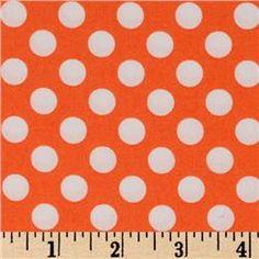 Michael Miller Ta Dot - Tangerine