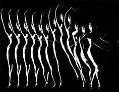 Gjon Mili, Untitled (Multiple exposure of dancer) Gjon Mili, Multiple Exposure, Magic Eyes, Dance Poses, Dance Art, Mixtape, Garden Art, Vintage Black, Black And White