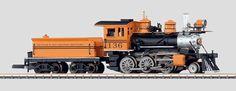 Mogul type (2-6-0) steam engine and tender of the Denver & Rio Grande Western Railroad.  (Märklin no. 88035)