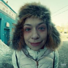 """Helena pretending to be Alison.  Priceless.  """"I have cold.""""  """"Yeah, one that affects her syntax."""""""