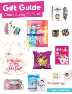 10 Gift Ideas for Glitter-Loving Unicorns | Favors & Stuff