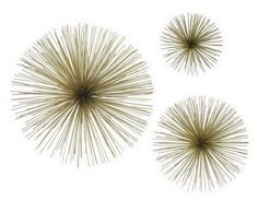 Set 3 Spiked Wall D�cor 120-73085