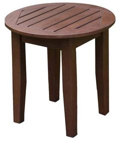 Willow Bay Patio Side Table - Brown
