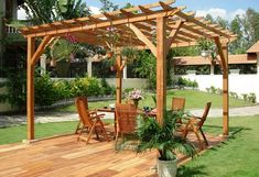 The pergola kits are the easiest and quickest way to build a garden pergola. There are lots of do it yourself pergola kits available to you so that anyone could easily put them together to construct a new structure at their backyard. Diy Pergola, Pergola Alu, Building A Pergola, Wood Pergola, Pergola Canopy, Outdoor Pergola, Pergola Ideas, Arbor Ideas, Patio Ideas