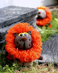 Sew Sock Lion with Single Sock  http://www.craftpassion.com/2014/02/how-to-sew-sock-lion-single-sock.html?utm_source=CraftGossip+Daily+Newsletter&utm_campaign=b9fe64c60c-CraftGossip_Daily_Newsletter&utm_medium=email&utm_term=0_db55426a84-b9fe64c60c-196060585