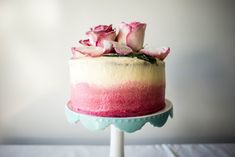 The Most Beautiful Valentines Day Cake Comes Topped With A Bouquet Of Candied Roses