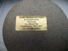 PERRY MARSH CORNWALL STUDIO POTTERY THREE SECTIONED BOWL POT QUIRKY FISH HANDLE - label