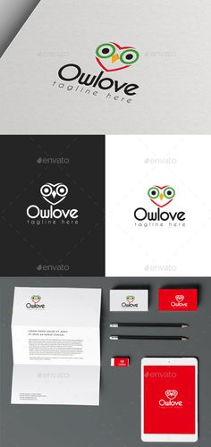 Buy Owl Love by Ark-Design on GraphicRiver. Logo of a Owl Love. Fully vectors, this logo can be easily resize and colors can be changed to fit your project. Logo Design Template, Logo Templates, Logos Ideas, Building Logo, Owl Logo, Photographer Logo, Architecture Logo, Portfolio Logo, Logos