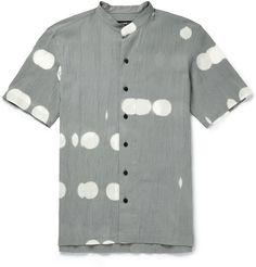 Issey Miyake Printed Cotton Shirt | MR PORTER