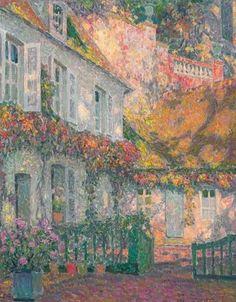 Henri Eugène Augustin le Sidaner, La maison, le matin, 1930