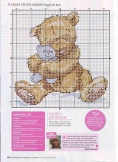Cross Stitch - Teddy bear with a Teddy bear