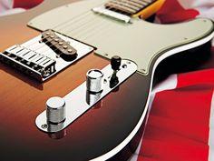 Fender American Deluxe Telecaster... most playable guitar...  Sunburst Photographs well.