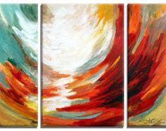 Pintura moderna moderna arte lienzo Original de por MiriLaveeArt