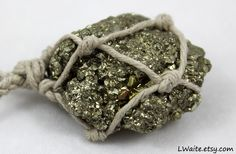 Pyrite Hemp Wrapped Healing Crystal Necklace https://www.etsy.com/listing/192140231/