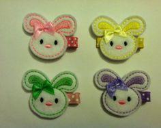 Easter Bunny Felt Clippies