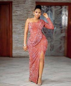 Ankara Short Gown Styles, Lace Dress Styles, Short Gowns, Nice Dresses, Sexy Evening Dress, Evening Dresses, Lace Styles For Wedding, Latest Lace Styles, Wedding Dress Sleeves