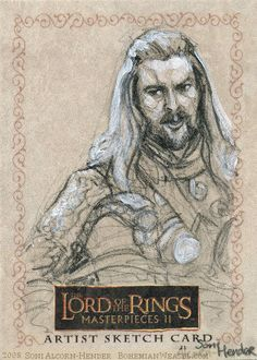'The horses grow nervous in the shadow of the mountain' Topps Lord of the Rings by Soni Alcorn-Hender