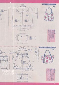 Pin on Moldes Bag Pattern Free, Pouch Pattern, Bag Patterns To Sew, Sewing Patterns Free, Patchwork Bags, Quilted Bag, Diy Sac, Modelista, Japanese Books